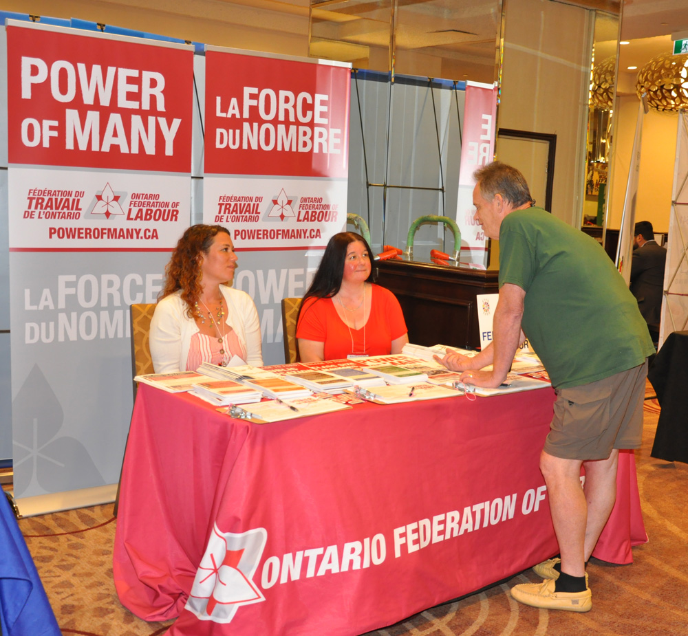 Annual Meeting Exhibitor: Ontario Federation of Labour