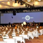 The empty Sheraton ballroom awaiting ETFO Annual Meeting delegates